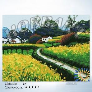 Количество цветов и сложность Дорога к дому Раскраска по номерам на холсте Hobbart HB3040039