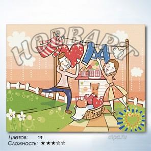 Количество цветов и сложность С любовью по жизни Раскраска по номерам на холсте Hobbart HB3040062