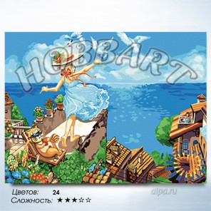 В рамке Летите, голуби, летите Раскраска по номерам на холсте Hobbart HB3040116