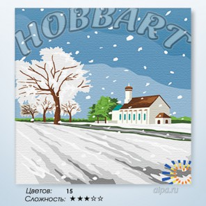 Количество цветов и сложность Под белым оделялом Раскраска по номерам на холсте Hobbart HB3030009