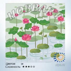 Количество цветов и сложность Кувшинки Раскраска по номерам на холсте Hobbart HB3030011