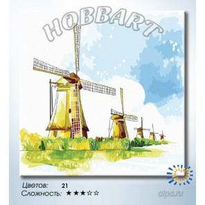 Количество цветов и сложность Ветряная гвардия Раскраска по номерам на холсте Hobbart HB3030045
