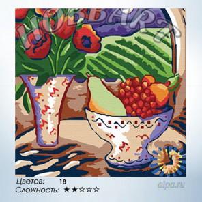 Количество цветов и сложность  Маково-фруктовый натюрморт Раскраска по номерам на холсте Hobbart HB3030050