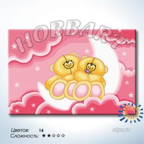 Количество цветов и сложность Лунные мишки Раскраска по номерам на холсте Hobbart HB2030047-LITE