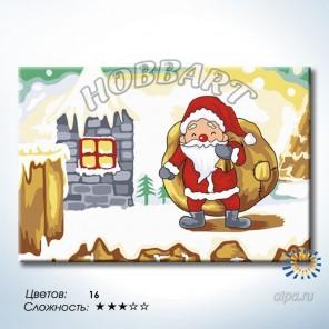 Количество цветов и сложность Мешок подарков Раскраска по номерам на холсте Hobbart HB2030078-LITE
