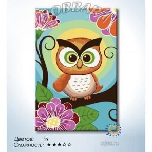 Количество цветов и сложность Совушка-сова Раскраска по номерам на холсте Hobbart HB2030097-LITE
