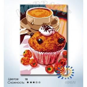 Количество цветов и сложность Десерт в кофейне Раскраска по номерам на холсте Hobbart HB2030104-LITE