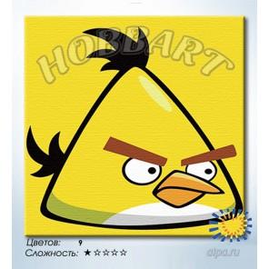 Количество цветов и сложность Свирепый желтый Раскраска по номерам на холсте Hobbart HB2020052