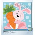 Количество цветов и сложность Зайчик. Веселые зверюшки Раскраска по номерам на холсте Hobbart HB2020057-LITE