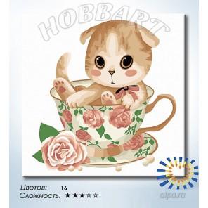 Количество цветов и сложность  Подарок к чаепитию Раскраска по номерам на холсте Hobbart HB2020110-LITE
