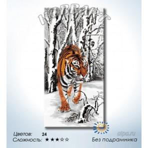 Количество цветов и сложность Зимний дозор Раскраска по номерам на холсте Hobbart DH4080007