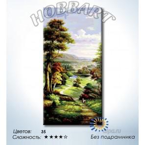 Количество цветов и сложность Тропой из леса Раскраска по номерам на холсте Hobbart DH4080009