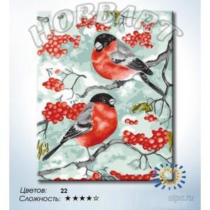 Количество цветов и сложность Снегири Раскраска по номерам на холсте Hobbart DZ4050014-LITE