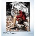 Количество цветов и сложность Под дождём Раскраска по номерам на холсте Hobbart DZ4050023