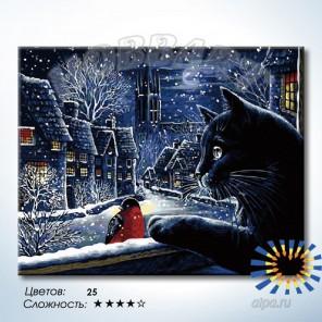 Количество цветов и сложность Волшебная зима Раскраска по номерам на холсте Hobbart DZ4050050-LITE