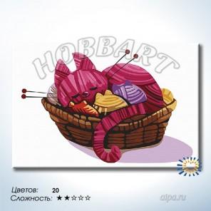Количество цветов и сложность Клубочки Раскраска по номерам на холсте Hobbart DZ2030002