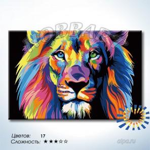 Количество цветов и сложность Радужный лев. Ваю Ромдони Раскраска по номерам на холсте Hobbart DZ2030005-LITE