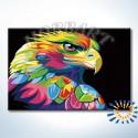Количество цветов и сложность Радужный орёл. Ваю Ромдони Раскраска по номерам на холсте Hobbart DZ2030012