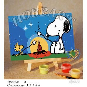Количество цветов и сложнсоть Зефирный пикник Раскраска по номерам на холсте Hobbart M1015032