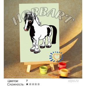 Количество цветов и сложнсоть Мой маленький пони Раскраска по номерам на холсте Hobbart M1015197