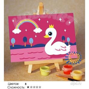Количество цветов и сложнсоть Царевна-лебедь Раскраска по номерам на холсте Hobbart M1015239-LITE