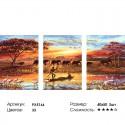 Африка Триптих Раскраска по номерам на холсте