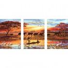 Африка Триптих Раскраска по номерам на холсте PX5166