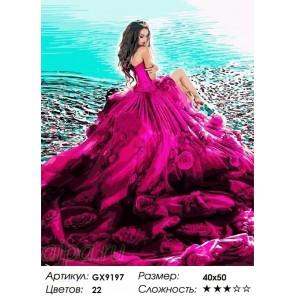 Сложность и количество цветов В шикарном платье Раскраска по номерам на холсте GX9197