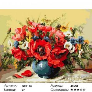 Маковое великолепие Раскраска картина по номерам на холсте