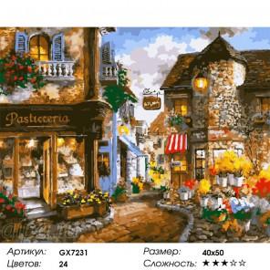 Уютная улочка Раскраска по номерам на холсте
