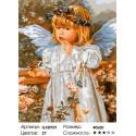 Сложность и количество цветов Девочка-ангелочек Раскраска по номерам на холсте GX8959