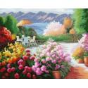 Цветочное царство Алмазная мозаика на подрамнике