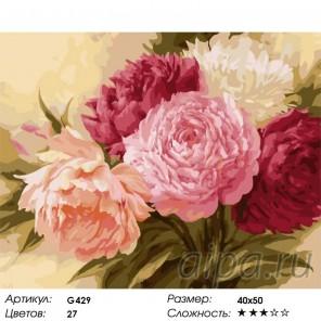 Пионы ( художник Игорь Левашов ) Раскраска (картина) по номерам на холсте