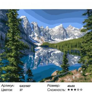 Количество цветов и сложность Царство гор Раскраска картина по номерам на холсте GX21507