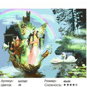 Количество цветов и сложность Радужные врата Раскраска картина по номерам на холсте GX7057