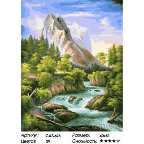 Количество цветов и сложность Стремительная река Раскраска картина по номерам на холсте GX23675