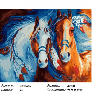 Количество цветов и сложность Идеальная пара Раскраска картина по номерам на холсте GX23655