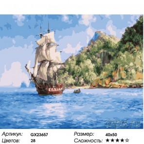 Количество цветов и сложность Тайна острова Раскраска картина по номерам на холсте GX23657