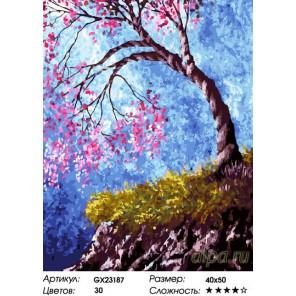 Количество цветов и сложность Дерево влюбленных Раскраска картина по номерам на холсте GX23187