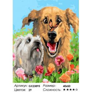 Количество цветов и сложность Мохнатые друзья Раскраска картина по номерам на холсте GX23895