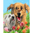 Мохнатые друзья Раскраска картина по номерам на холсте GX23895