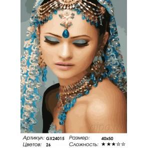 Количество цветов и сложность Красота Востока Раскраска картина по номерам на холсте GX24015