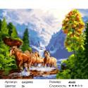 Вольные кони Раскраска картина по номерам на холсте