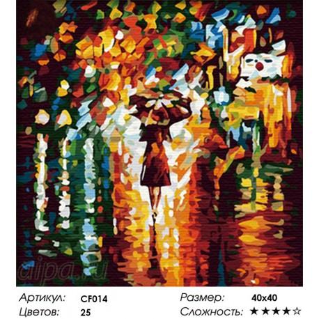 Сложность и количество цветов В дождь Раскраска по номерам на холсте CF014