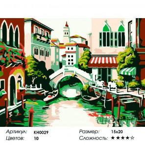 Количество цветов и сложность Старинный мостик Раскраска мини по номерам KH0029