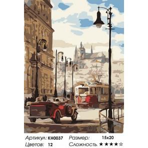 Количество цветов и сложность Лондон Раскраска мини по номерам KH0037