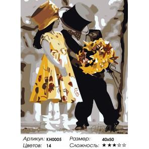 Количество цветов и сложность Ухаживание Раскраска картина по номерам на холсте KH0005