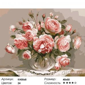 Количество цветов и сложность Розовый вечер Раскраска картина по номерам на холсте KH0068