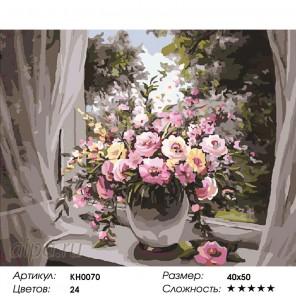 Количество цветов и сложность Утреннее вдохновение Раскраска картина по номерам на холсте KH0070