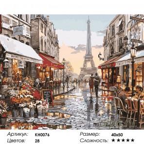 Окно в Париж Раскраска картина по номерам на холсте